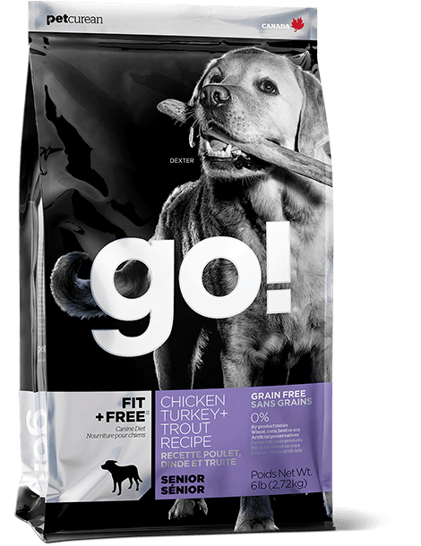 GO! FIT + FREE Grain Free Senior Dog Food Recipe
