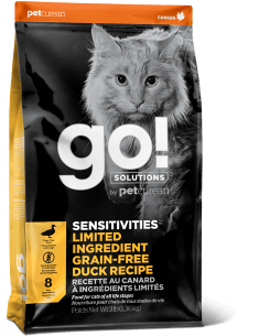 GO! SOLUTIONS SENSITIVITIES LIMITED INGREDIENT Grain Free Duck Recipe for Cats