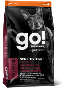 GO! SOLUTIONS SENSITIVITIES LIMITED INGREDIENT Grain Free Lamb Recipe for Dogs