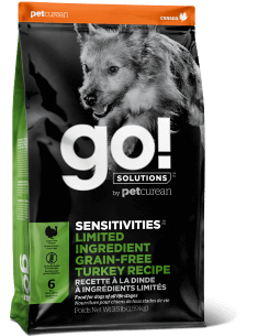 GO! SOLUTIONS SENSITIVITIES LIMITED INGREDIENT Grain Free Turkey Recipe for Dogs