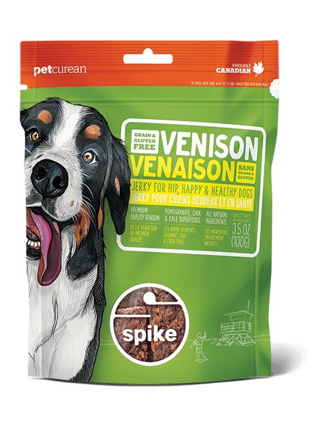 SPIKE™ Grain Free Venison Jerky for Dogs