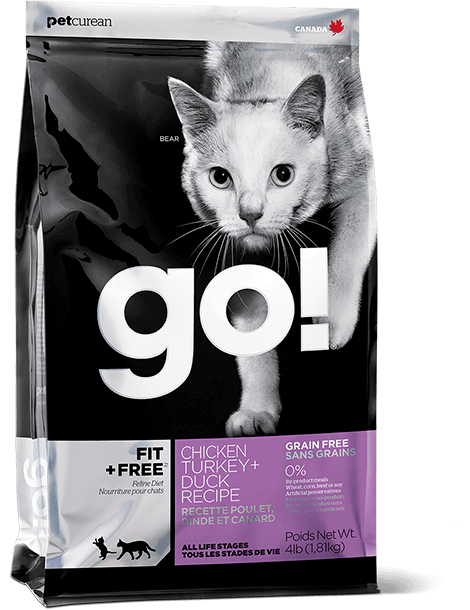 GO! FIT + FREE Grain Free Chicken, Turkey + Duck Recipe for cats