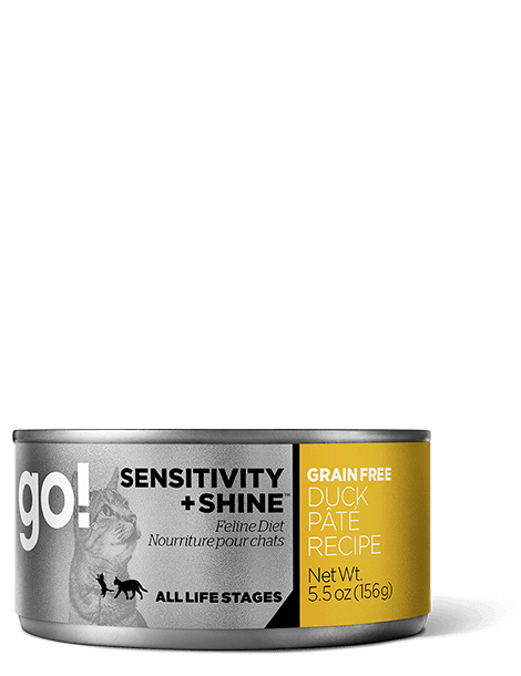 GO! SENSITIVITY + SHINE Grain Free Duck Pâté Recipe for cats