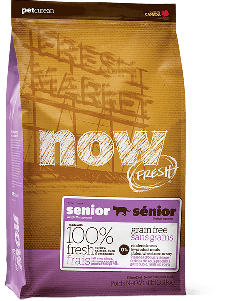 bag of NOW FRESH for senior dogs