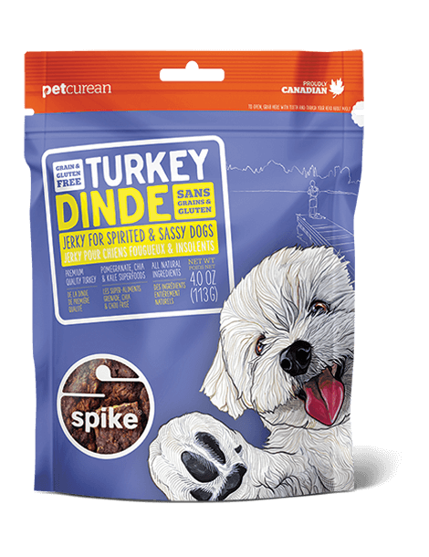 SPIKE™ Grain Free Turkey Jerky for Dogs