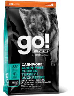 GO! SOLUTIONS CARNIVORE Grain Free Chicken, Turkey + Duck Adult Recipe for Dogs