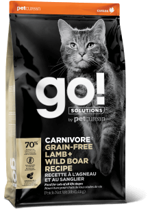 GO! SOLUTIONS CARNIVORE Grain Free Lamb + Wild Boar Recipe for Cats