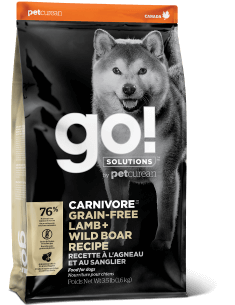 GO! SOLUTIONS CARNIVORE Grain Free Lamb + Wild Boar Recipe for Dogs