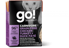 GO! SOLUTIONS CARNIVORE Grain Free Chicken, Turkey + Duck Pâté for cats