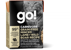 GO! SOLUTIONS CARNIVORE Grain Free Minced Lamb + Wild Boar Recipe for cats