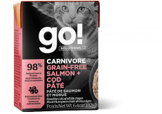 GO! SOLUTIONS CARNIVORE Grain Free Salmon + Cod Pâté for cats