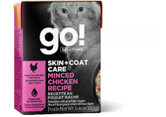 GO! SOLUTIONS SKIN + COAT CARE Minced Chicken Recipe for cats