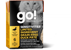 GO! SOLUTIONS SENSITIVITIES Limited Ingredient Grain Free Duck Pâté for cats