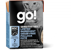 GO! SOLUTIONS SENSITIVITIES Limited Ingredient Grain Free Pollock Pâté for cats