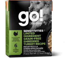 GO! SOLUTIONS SENSITIVITIES Limited Ingredient Grain Free Shredded Turkey for dogs