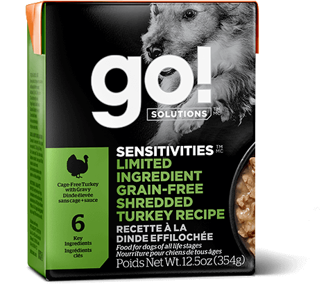 GO! SENSITIVITIES Limited Ingredient Grain Free Shredded Turkey for dogs