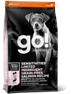 GO! SOLUTIONS SENSITIVITIES LIMITED INGREDIENT Grain Free Small Bites Salmon Recipe for Dogs